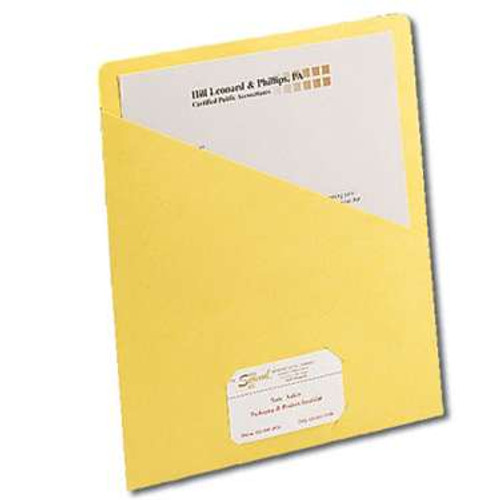 Smead Organized Up Slash Jacket, Letter Size, Yellow, 25 per Pack (75434) - 20 Packs