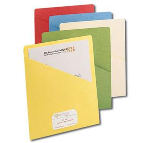 Smead Organized Up Slash Jacket, Letter Size, Assorted Colors, 25 per Pack (75425) - 20 Packs