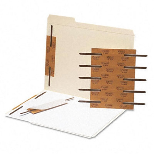 "Smead Self-Adhesive Metal Fastener, Reinforced, 2"" Capacity, Brown, 100 per Box (68215)"
