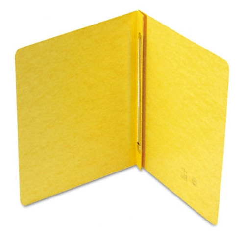 """Smead PressGuard Report Cover, Metal Prong Fastener with Compressor, Side Fastener, 3"""" Capacity, Yellow (81852)"""