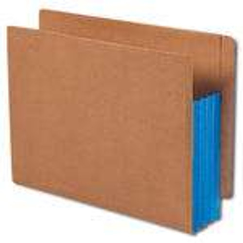 """Smead End Tab folder, Reinforced Straight-Cut Tab, 3-1/2"""" Accordion Expansion, Extra Wide Letter Size, Redrope with Blue Gusset,10 per Box (73679)"""