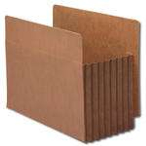 Smead End Tab TUFF File Pocket, Reinforced Straight-Cut Tab, Tyvek Gusset, Extra Wide, Redrope (73795) - Total of 5
