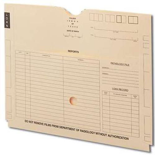 "Smead End Tab X-Ray Jacket with Pocket, Straight-Cut Tab, Printed Front, 18-1/4"" W x 14-1/2"" H, Manila, 100 per Box (66300)"