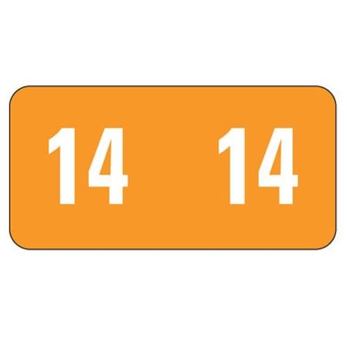 Smead ETS Yearband Label - 2014 - Orange