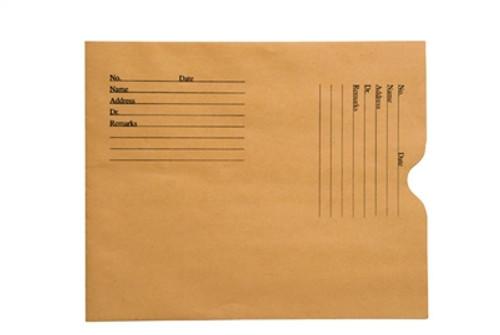 Medical Folder, Negative Preserver- Open End - Printed - 28 lb. Brown Kraft Stock, Size 8 1/2 X 10 1/2  - 500/Carton