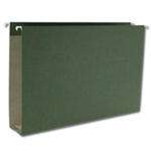 "Smead 100% Recycled Hanging Box Bottom File Folder, 2"" Expansion, Legal Size, Standard Green, 25 per Box (65095)"