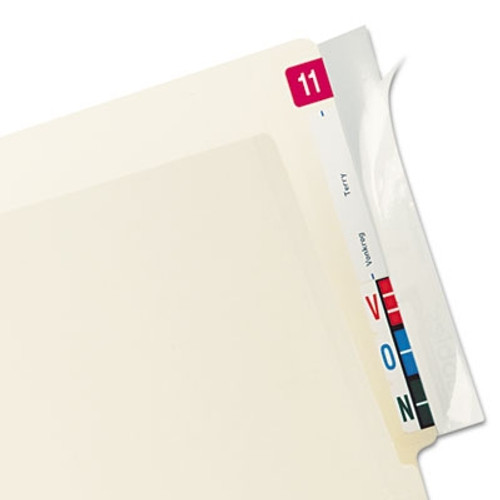 Tabbies Label Protector, End Tab Folder, 8x2, Clear, 100/PK