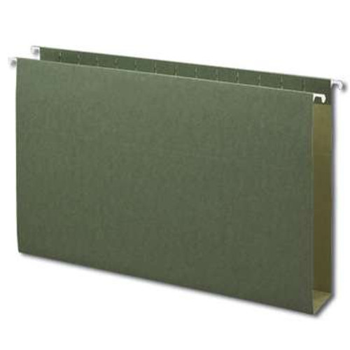 "Smead Hanging Box Bottom Folder, 2"" Expansion, Legal Size, Standard Green, 25 per Box (64359) - 5 Boxes"