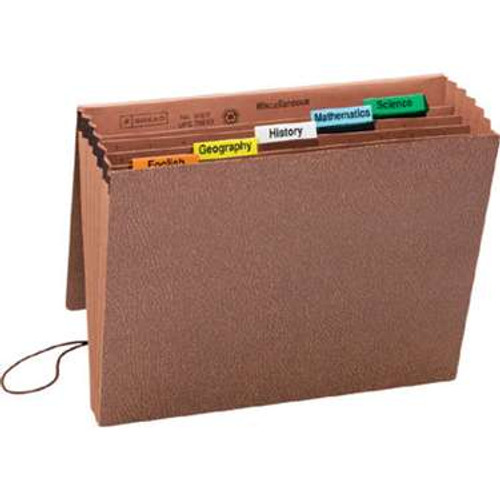 Smead Subject File, 6 Pockets, Flap and Elastic Cord Closure, Letter Size, Redrope-Printed Stock (70540) - Total of 10