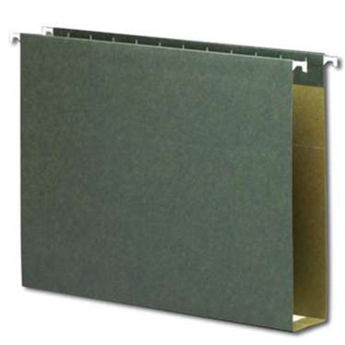 "Smead Box Bottom Hanging File Folders, 2"" Expansion, Letter Size, Standard Green, 25 per Box (64259) - 5 Boxes"