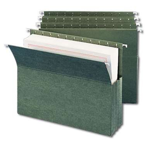 Smead Hanging File Pockets, 3-1/2 Inch Expansion,  Letter Size, Standard Green, 10 Per Box (64220) - 5 Boxes