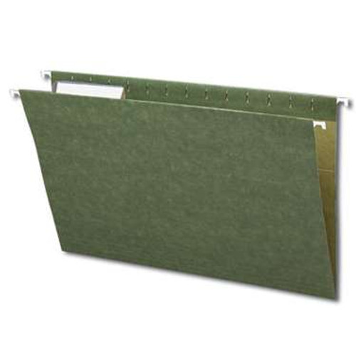 Smead Hanging File Folder with Tab,  1/3- Cut Adjustable Tab, Legal Size, Standard Green,  25 per Box (64135) - 5 Boxes