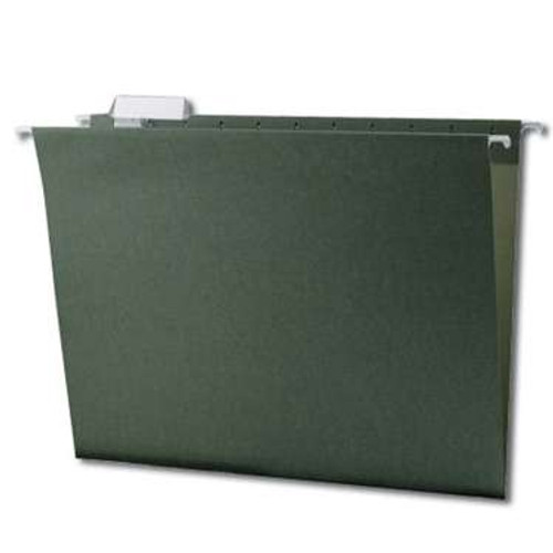 Smead Hanging File Folder with Tab, 1/5-Cut Adjustable Tab, Letter Size, Standard Green, 25 per Box (64055) - 10 Boxes