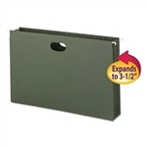 Smead Hanging File Pockets, 3-1/2 Inch Expansion,  Legal Size, Standard Green, 10 Per Box (64320) - 4 Boxes