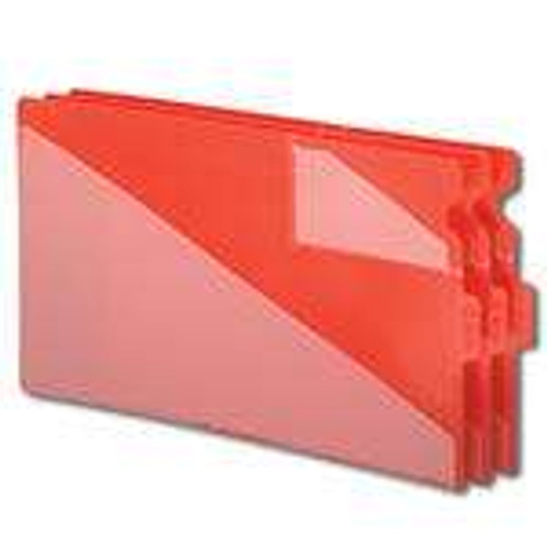 Smead End Tab Poly Out Guide, Two-Pocket Style, Center Position Tab, Legal Size, Red, 50 per Box (61970)