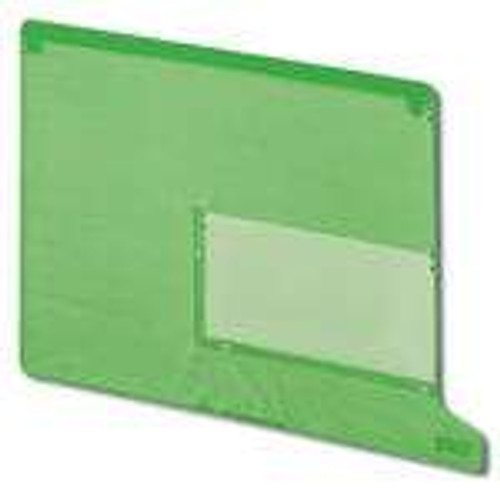 Smead End Tab Poly Out Guide, Two Pocket, Bottom Position Tab, Letter Size, Green, 25 per Box (61952)