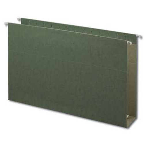 "Smead Hanging Box Bottom File Folder, 3"" Expansion, Legal Size, Standard Green, 25 per Box (64379) - 5 Boxes"