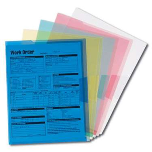 Smead Organized Up Poly Translucent Project File Jacket, Letter Size, Assorted Colors, 5 per Pack (85750) - 30 Packs
