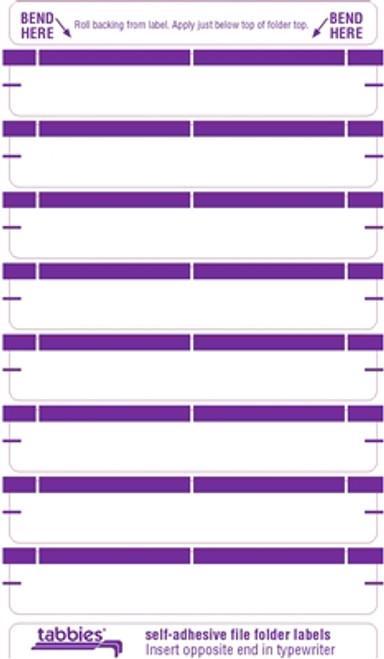 Color Coded File Folder Labels - Purple
