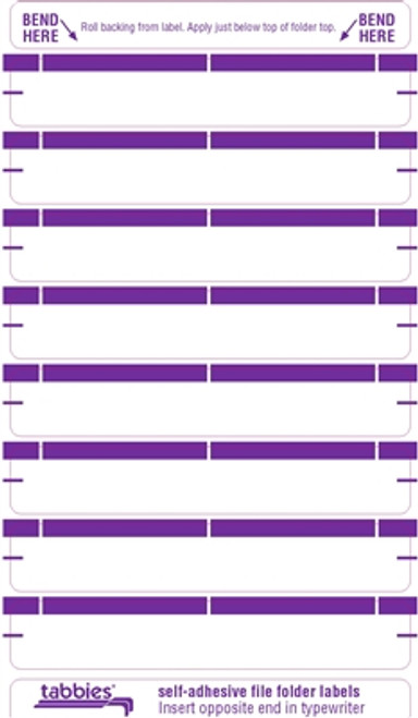 Color Coded File Folder Labels - Purple