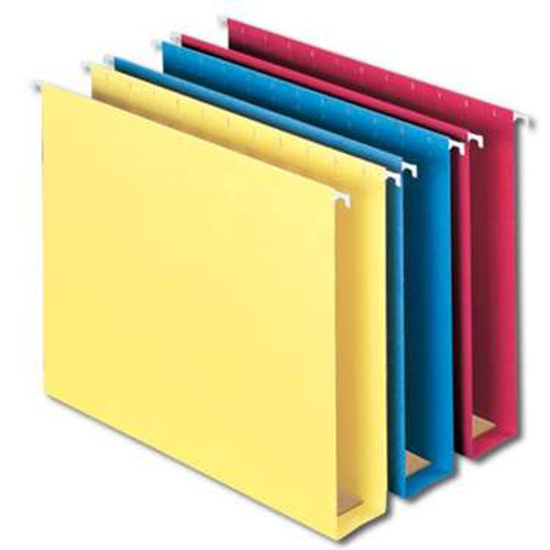 "Smead Hanging Box Bottom File Folder with Tab, 2"" Expansion, Letter Size, Assorted Colors, 25 per Box (64264) - 5 Boxes"