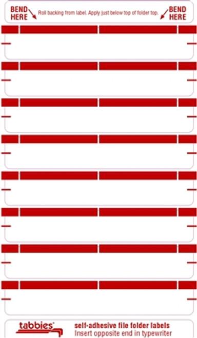 Color Coded File Folder Labels - Red
