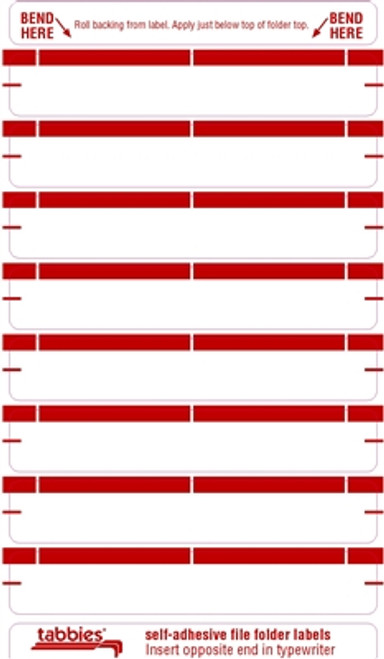 Color Coded File Folder Labels - Red