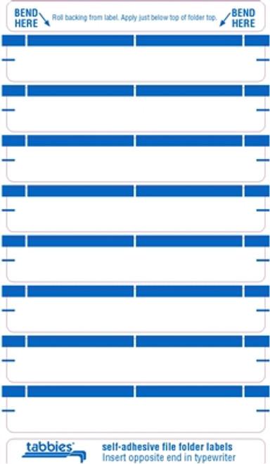Color Coded File Folder Labels - Light Blue - 248/Pack