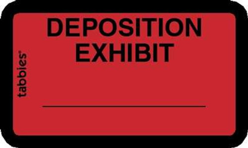 Deposition Exhibit Red, 252 Labels/Pkg