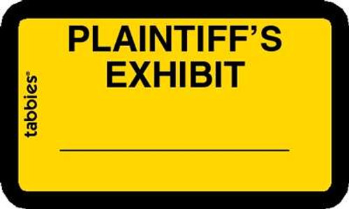 Plaintiff's Exhibit Yellow, 252 Labels/Pkg