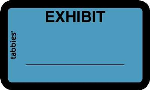 Exhibit' Label Blue 252 Labels/Pkg