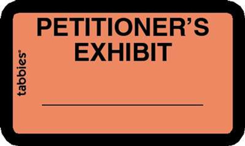 Petitioner Exhibit Orange 252 Labels/Pk