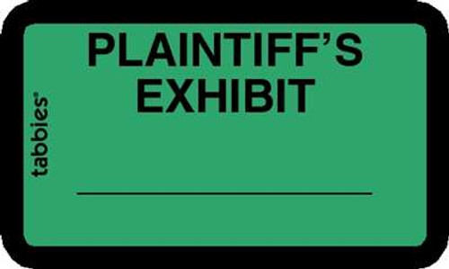 Plaintiff's Exhibit Green 252 Labels/Pk, 4 Pkgs/Box