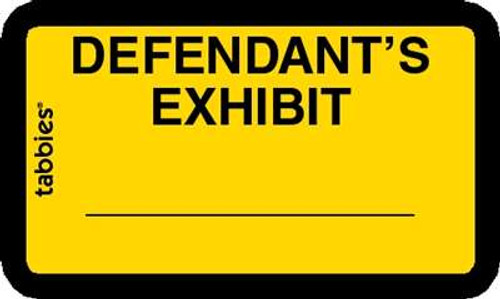 Defendant's Exhibit Yellow 252 Labels/Pk, 4 Pkgs/Box