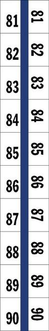 "Numerical Legal Exhibit Index Tabs 1/2"" TABS #81-90 5PK/BX BLUE - 100TABS/PKG"