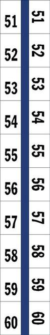 "Numerical Legal Exhibit Index Tabs 1/2"" TABS #61-70 5PK/BX BLUE - 100TABS/PKG"