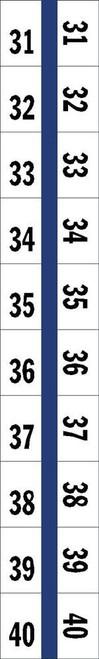"Numerical Legal Exhibit Index Tabs 1/2"" TABS #31-40 5PK/BX BLUE - 100TABS/PKG"
