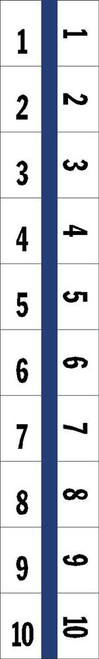 "Numerical Legal Exhibit Index Tabs 1/2"" TABS #1-10 5PK/BX BLUE - 100 TABS/PKG"