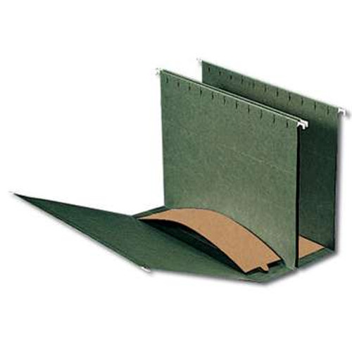 "Smead Hanging Box Bottom File Folder, 3"" Expansion, Letter Size, Standard Green,  25 per Box (64279) - 5 Boxes"