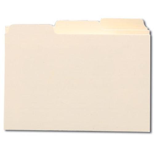 "Smead Card Guide, Plain 1/3-Cut Tab (Blank), 8""W x 5""H, Manila, 100 per Box (57030)"