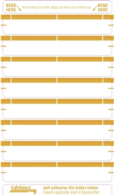 Color Coded File Folder Labels - Tan
