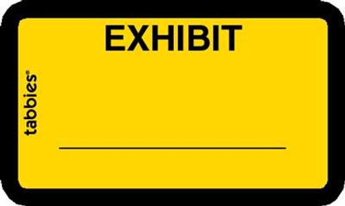 Exhibit' Label Yellow 252 Labels/Pkg