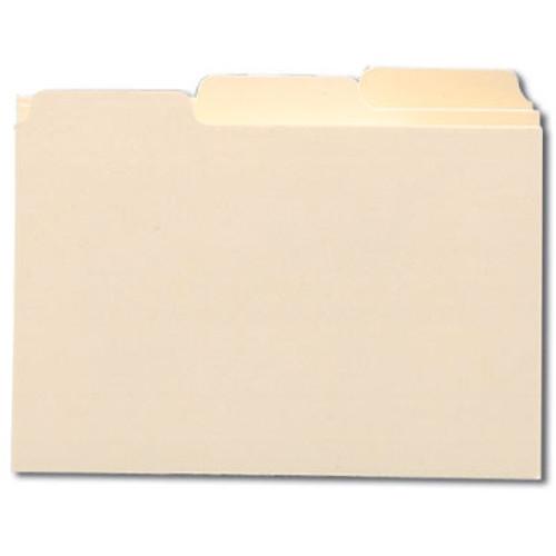 "Smead Card Guide, Plain 1/3-Cut Tab (Blank), 5""W x 3""H, Manila, 100 per Box (55030)"