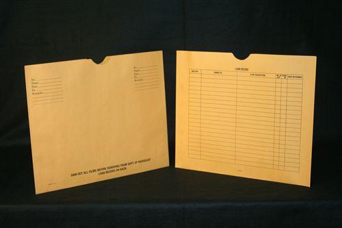 Medical Folder Heavy Duty Negative Preservers- Open Side.  32 lb. Brown Kraft Stock, 250 Negative Preservers per Carton, Size 14 1/2 X 17 1/2