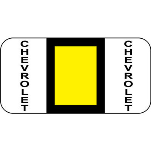 Vehicle Make Labels - Chevrolet