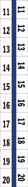 "Numerical Legal Exhibit Index Tabs 1/2"" TABS #11-20 5PK/BX BLUE - 100 TABS/PKG"
