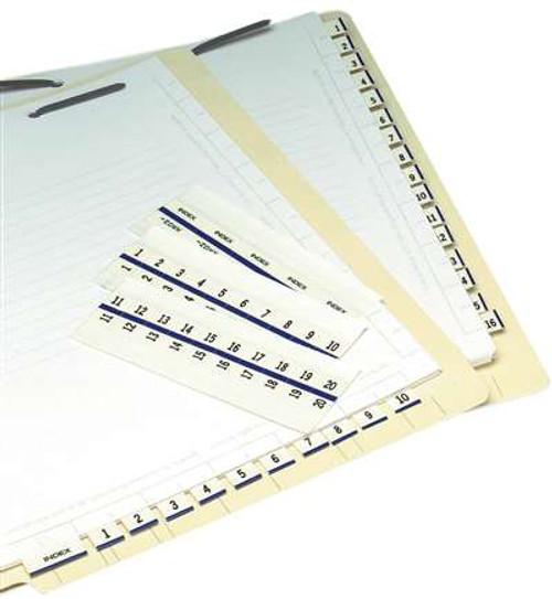 "Numeric Legal Index Tabs / Divider 1/2"" Tab '701-800' 5PK/BX BLUE - 100TABS/PKG"