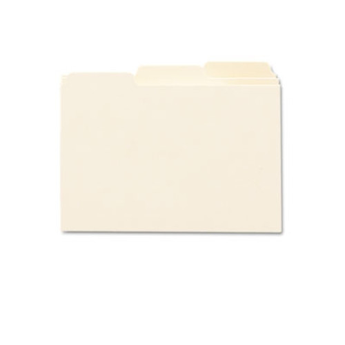 "Smead Card Guide, Plain 1/3-Cut Tab (Blank), 6""W x 4""H, Manila, 100 per Box (56030)"