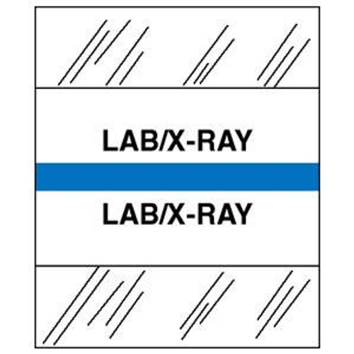 "Patient Chart Index Tabs/Labels - ""Lab/X-Ray"" - Lt. Blue - 1/2"" H x 1-1/4"" W Tabs - 100/Package"