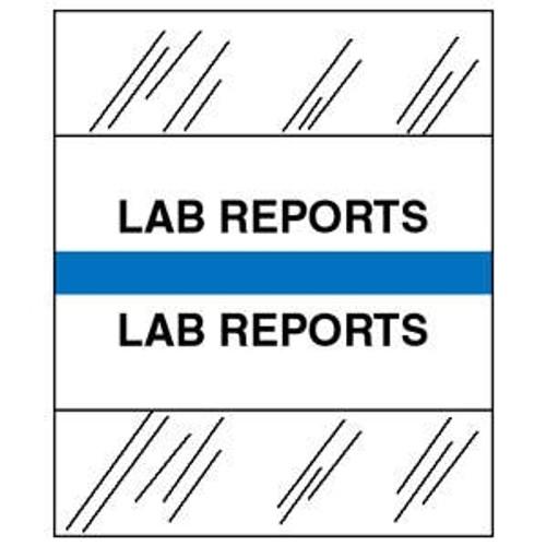 "Patient Chart Index Tabs/Labels - ""Lab Reports"" - Lt. Blue  - 100/Pack"